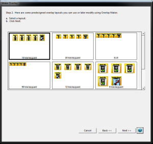 Select Overlay Layout