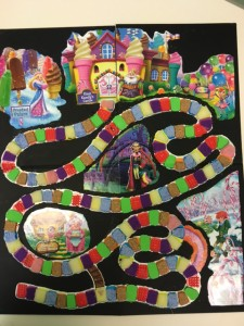 Candy Land board adapted with textures.