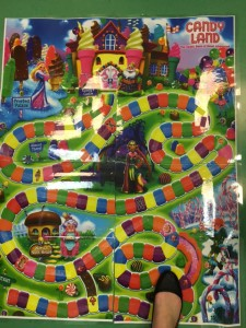 Giant Candy Land board.