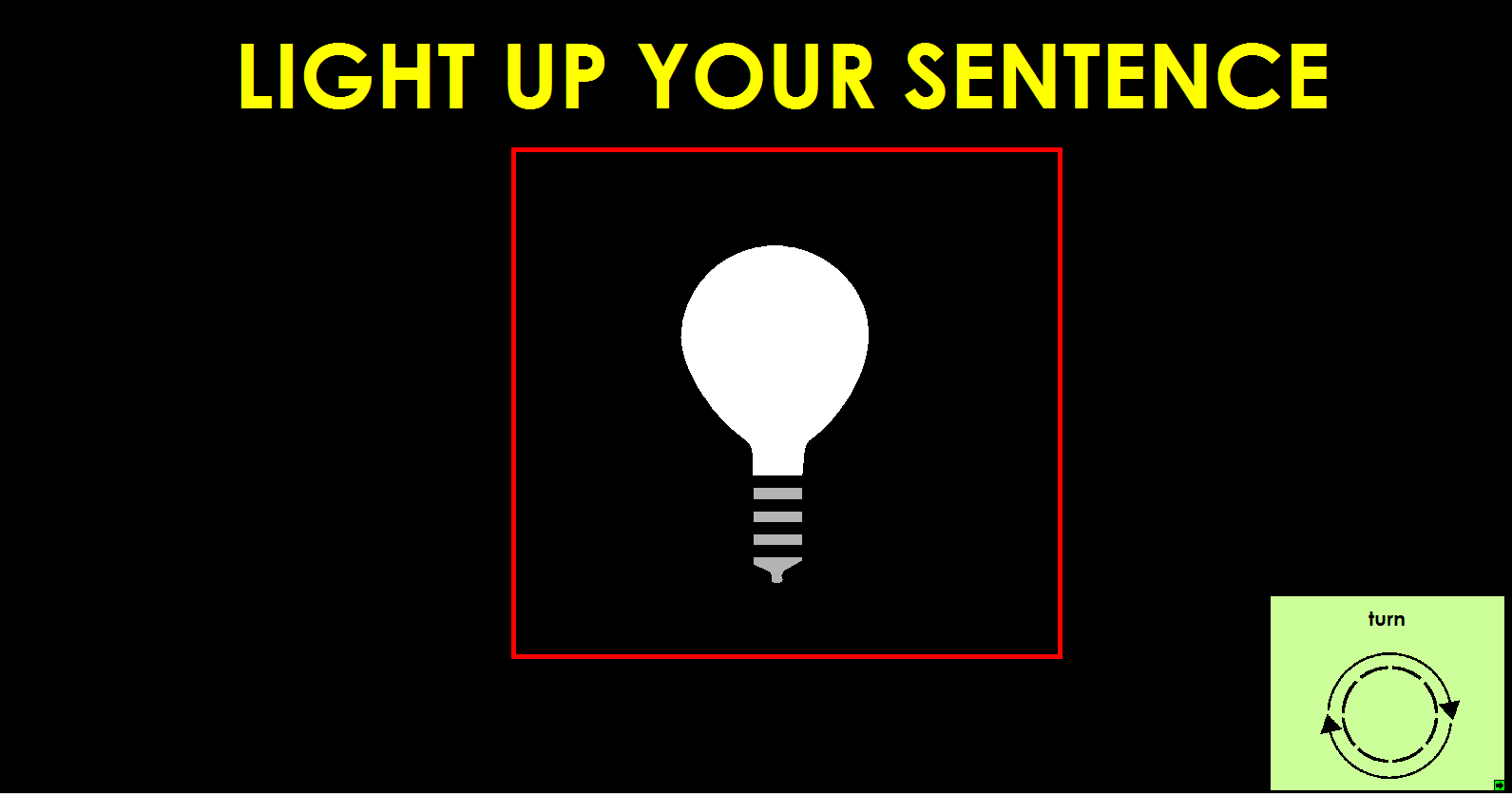 Light Up Your Sentence 1
