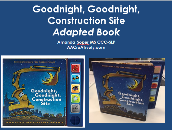 Adapted Book Kit Goodnight Goodnight Construction Site
